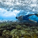 Shooting the underwater project in the Cook Islands